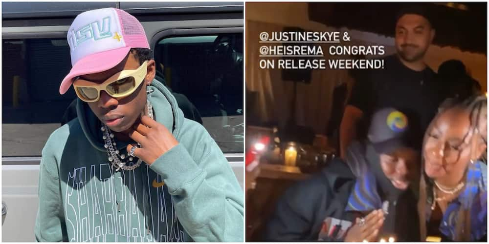 Rema and Wizkid's Ex Justine Skye Can't Get Their Hands off Each Other in Cute Birthday Video, Fans React
