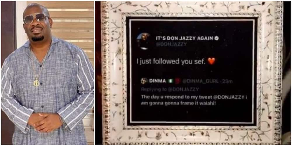 Don Jazzy gives fan N100k for framing his tweet (video)
