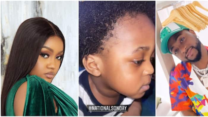 Davido or Chioma: Fans react to adorable photo of singer's son, speak on which parent he most looks like