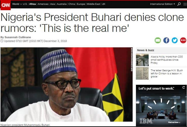 Buhari and Jibril From Sudan, International media react as Buhari denies being cloned, replaced by 'Jibril from Sudan'