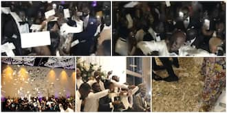 Cubana wedding style: Video of recent wedding ceremony where only dollar notes was sprayed goes viral, people