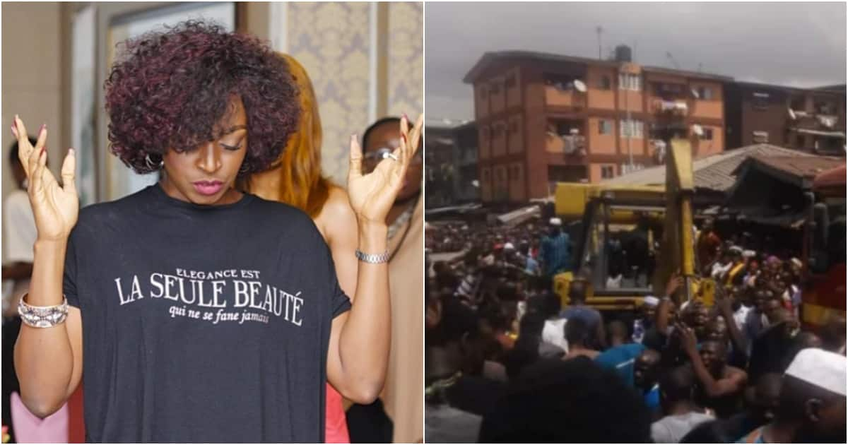 Kate Henshaw cries out for lives lost in Nigeria after Lagos building collapse