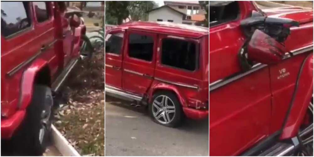 Man crashes G-Wagon car he rented to impress girl