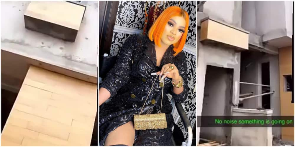 Bobrisky shares video of his house that is under construction