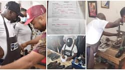 Nigerian governor registers to learn shoemaking, opens up on reason for his action, photos spark reactions
