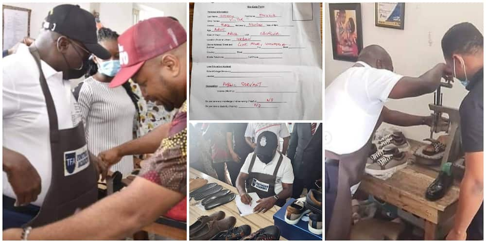 Nigerian Governor Registers to Learn Shoemaking, Opens up on Reason for His Action, Sparks Reactions
