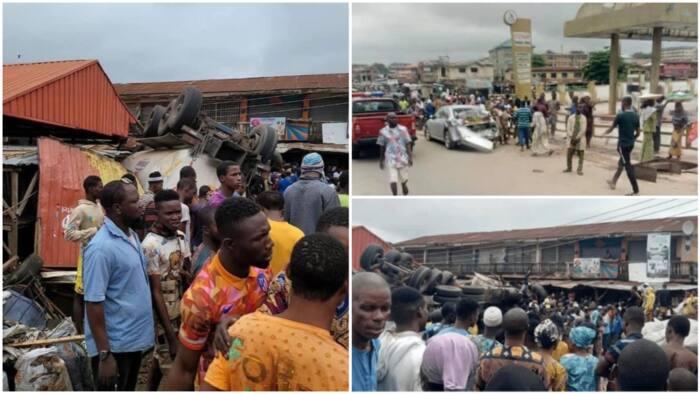 BREAKING: Many feared dead as tanker rams into Ibadan market