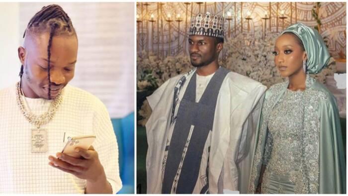 Yusuf Buhari's wedding: Naira Marley reacts as guests dance to his controversial song 'Coming'