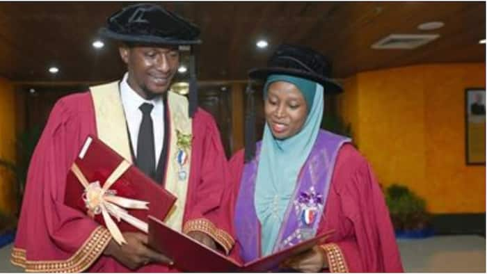 Nigerian couple win best students' awards as they bag PhD degree on the same day in Malaysia (photos)