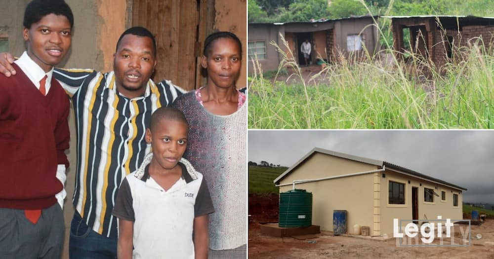 Young man goes from mud hut to brand new home worth R400 000