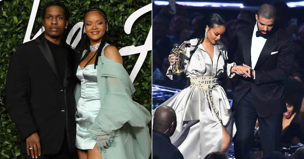 Just vibes: Rihanna parties with ASAP Rocky and her ex-boyfriend Drake