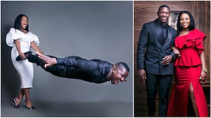 See viral pre-wedding photos of groom flying as his bride holds his legs