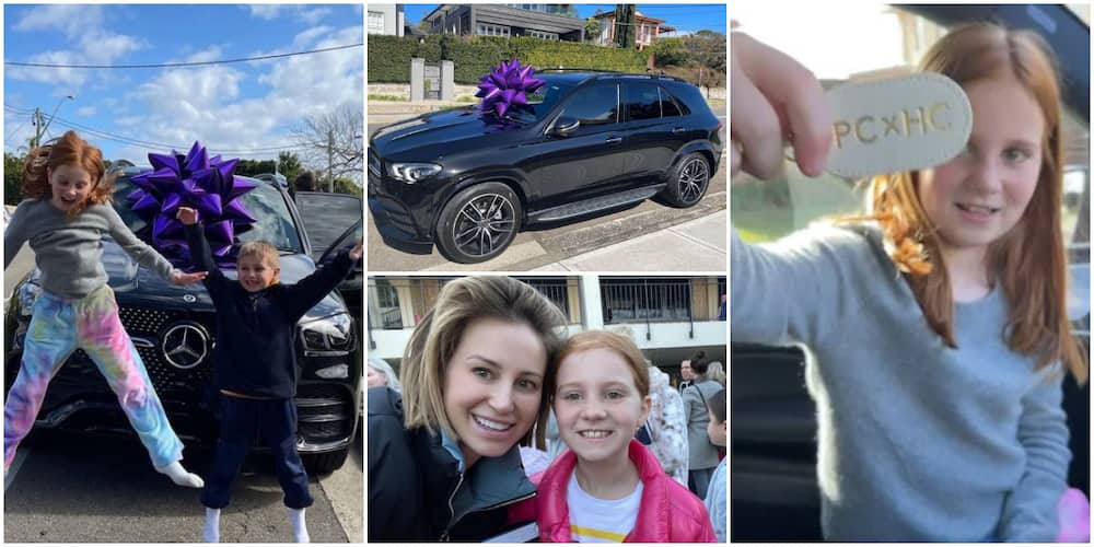 Reactions as woman gifts her 9-year-old daughter Mercedes Benz GL car that costs N111 million