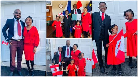 Thank God: Nigerian woman rejoices as she and family become Canadian citizens, shares beautiful photos