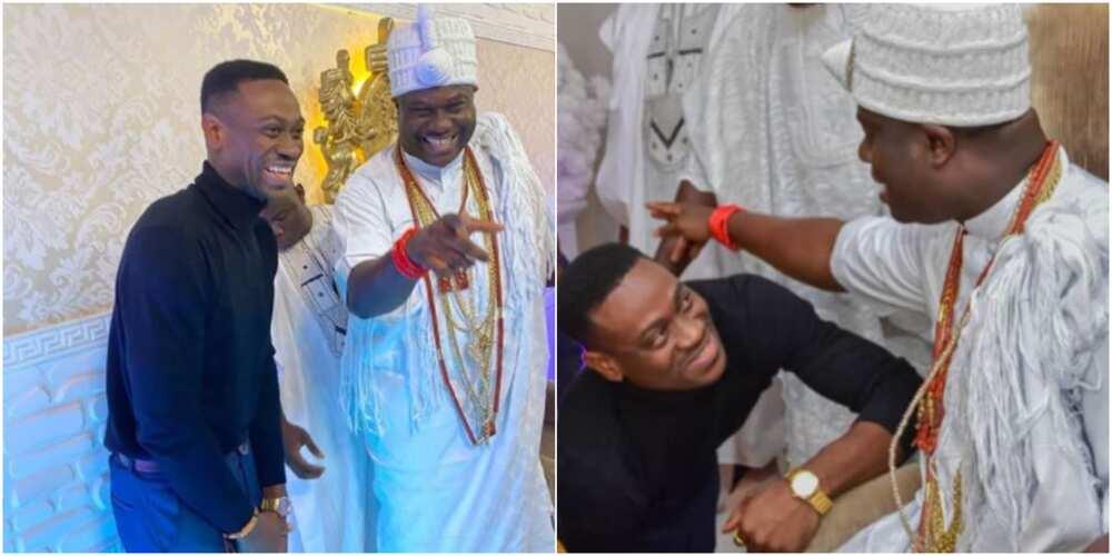 Actor Lateef Adedimeji celebrates Ooni of Ife as he marks birthday (photos)