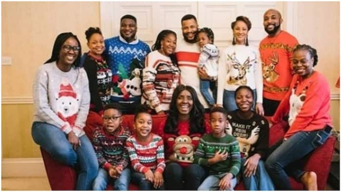 Super adorable Christmas photos of Banky W, his wife and family