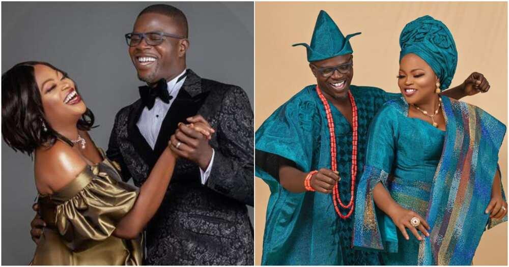 Funke Akindele's hubby JJC Skillz writes special love songs to mark wedding anniversary