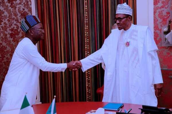 President Buhari meets Samuel Ortom over attack on governor
