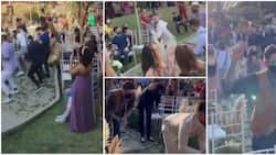 Groom causes stir at his wedding service, shows up and dances with different guests in a cute choreography
