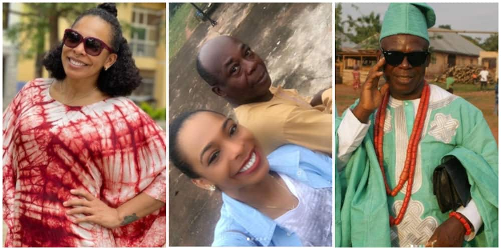 Photos of Tboss and her father.