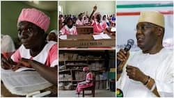 50-year-old secondary school student raises hand up in class, Atiku praises her, shares photos