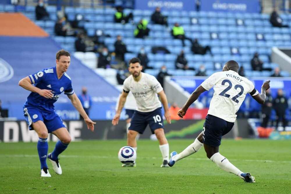 Jesus, Mendy score as Man City end Leicester City's 4-game unbeaten run at King Power Stadium