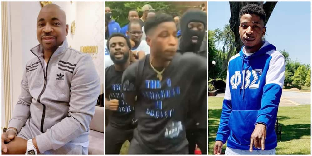 Carry on, MC Oluomo Hails Son Kenny as He Joins Fraternity in American University