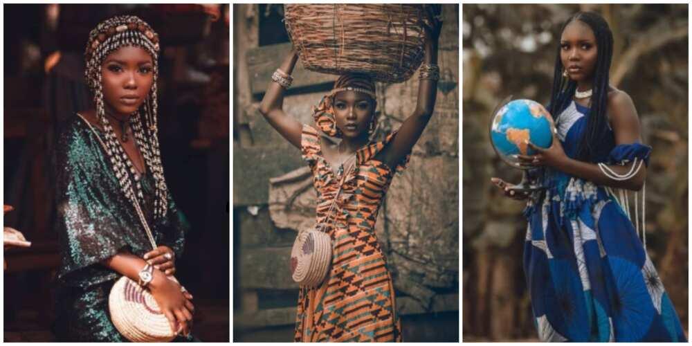 Photos of Vera Ofure, a model.