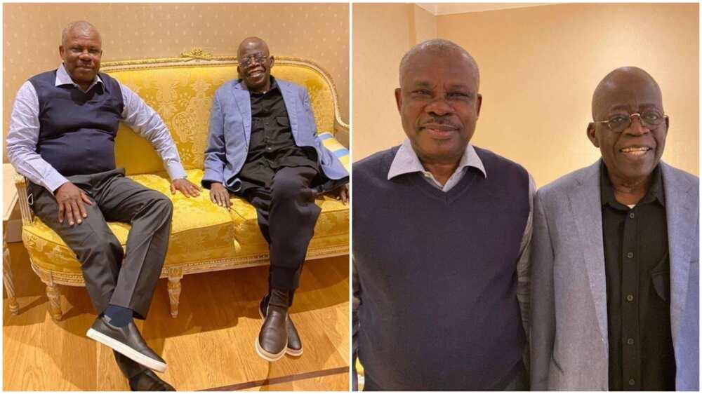 APC Senator Ibikunle Amosun Visits Tinubu in London