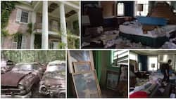 Man discovers old abandoned mansion with 100s of cars, lovely paintings & luxury furniture, shares clip of it