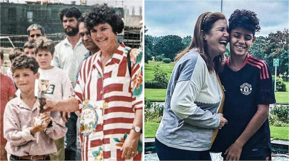 Having Watched Her Son Ronaldo to Become One of the Greatest, Dolores Aviero Spotted Mentoring Cristiano Jr
