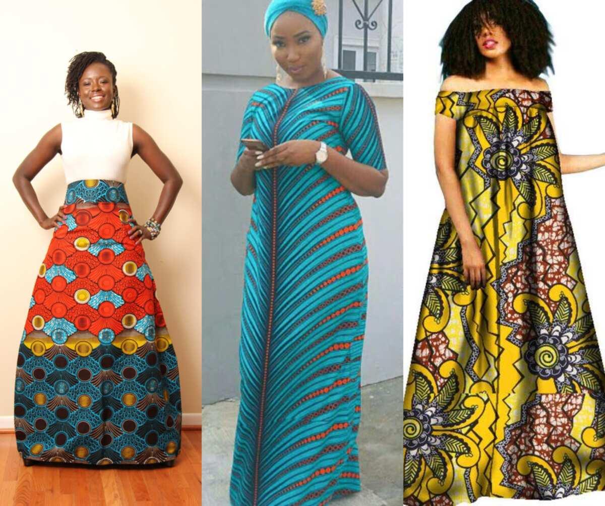 Maxi A line Ankara dresses