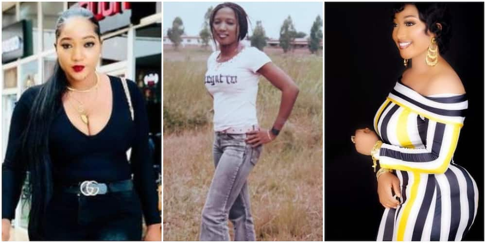 See Transformation: Reactions As Actress Christabel Egbenya Shares Throwback and New Photo of Backside