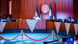 Yanzu nan: Buhari ya na ganawa da tsohuwar Ministar Jonathan da Obasanjo