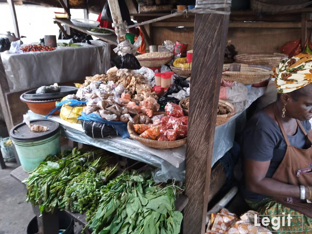 Some traders in the market complain of low profit after daily sales during Easter. Photo credit: Esther Odili