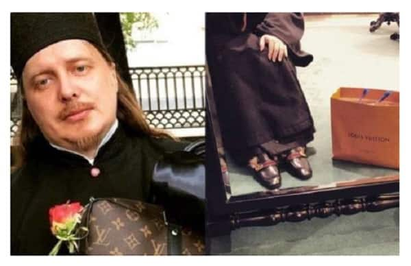 Russian priest sparks controversy by displaying Louis Vuitton bags and Gucci shoes online