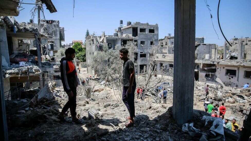 Gini Ya Ruguje Tare da Kashe Uwa da 'Ya'yanta 4 a Gaza , An Yi Nasarar Ceto Jaririnta