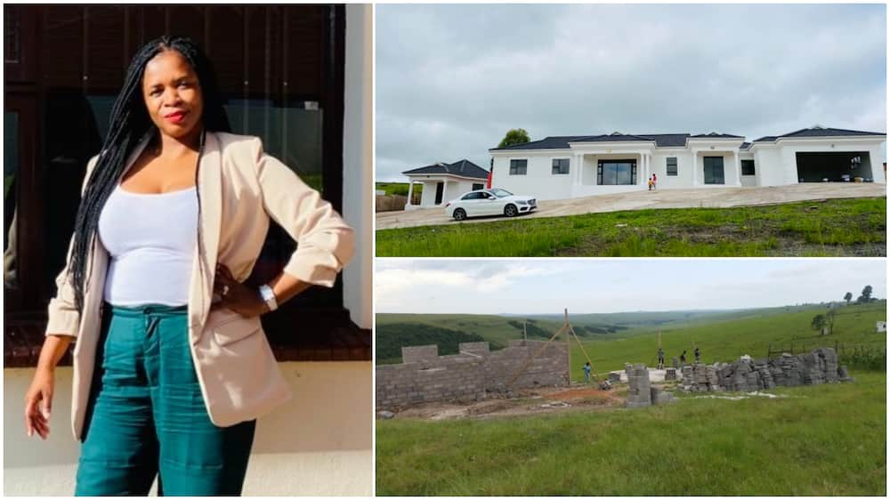 Woman finally completes her house, shares photos to show how it all started
