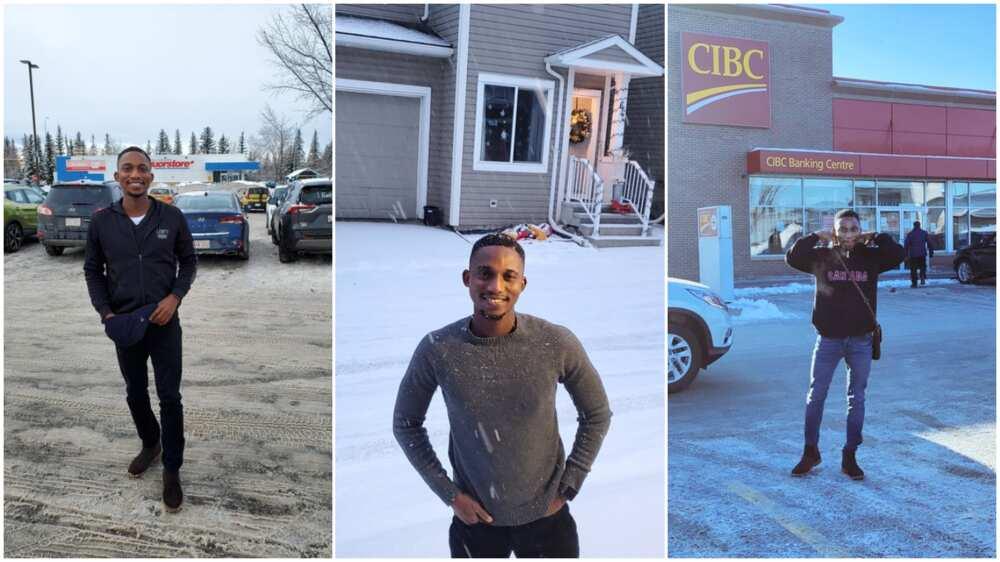 Man relocates to Canada, celebrates as he shares 'abroad' photos