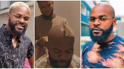 I'm waiting for someone to slap it: Hilarious reactions as Falz shares moment he went bald