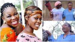 1 year gone: Ada Ameh holds back tears, eulogizes late daughter as she takes flowers to her gravesite