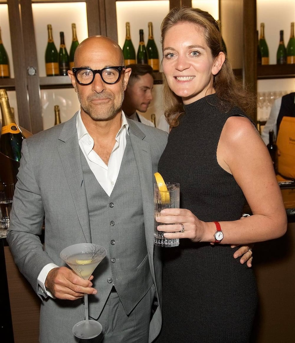 Stanley Tucci wife Felicity Blunt