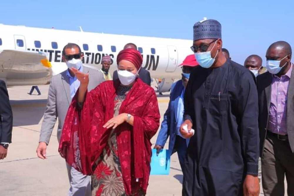 Gwamna Zulum ya karbi bakuncin Amina Mohammed a Maiduguri (hotuna)