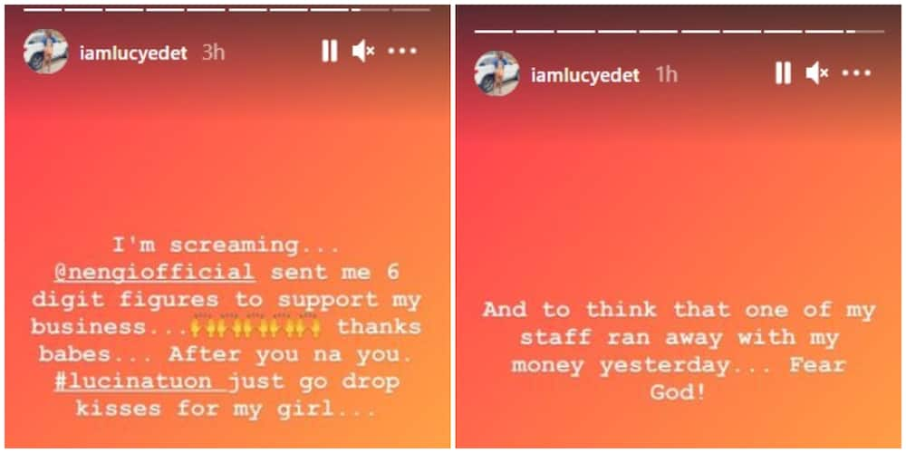 BBNaija: Lucy excited as she receives '6 figure amount' from Nengi after staff ran with her money