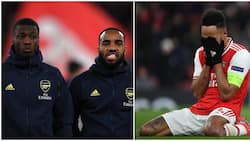 Heartbreak as 2 Arsenal stars give emotional support to Aubameyang who is a facing difficult time