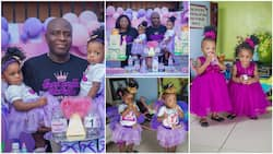Joy as Nigerian couple celebrate birthday of twins they had after 17 years of long wait, cute photos go viral