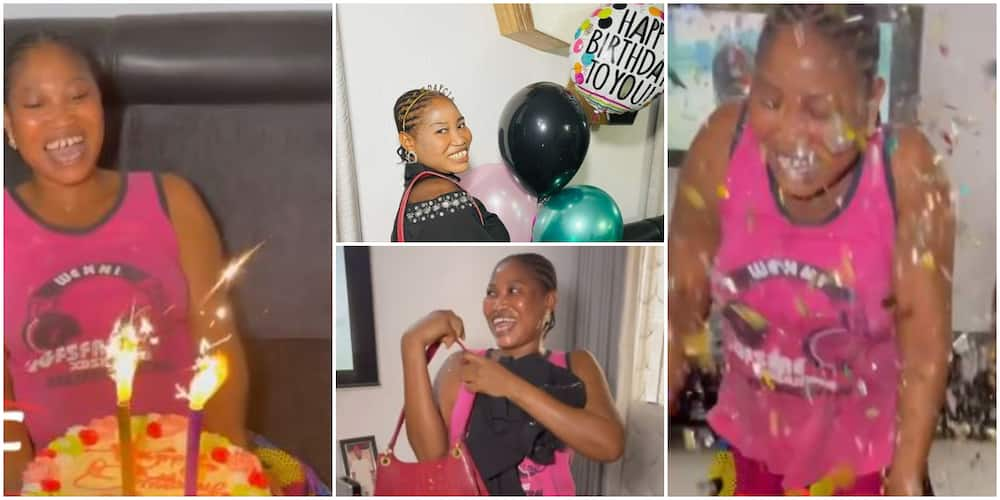 Nigerian Lady Throws Birthday Surprise for Her Maid, Touching Video Stirs Massive Reactions Online
