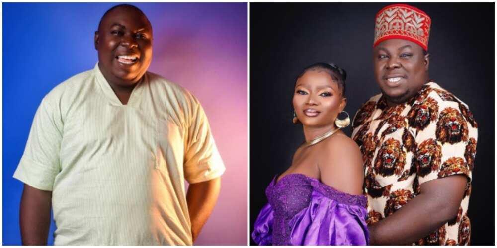Photos of Emeka Okoye and his fiancee.