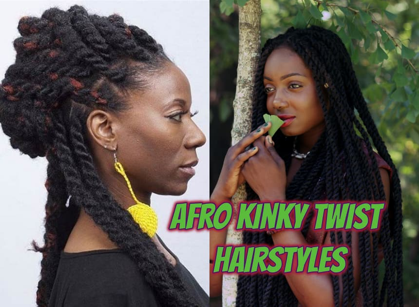 Best option for curly hair: Afro kinky twist hairstyles - Naij Nigeria
