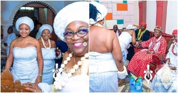 Actress Regina Daniels gets initiated into the married women group in Delta state